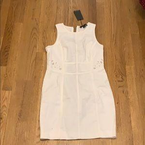 White denim mini dress